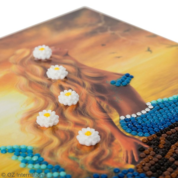 Kit Crystal Art - Carte broderie diamant - Sirène - 18 x 18 cm - Photo n°3