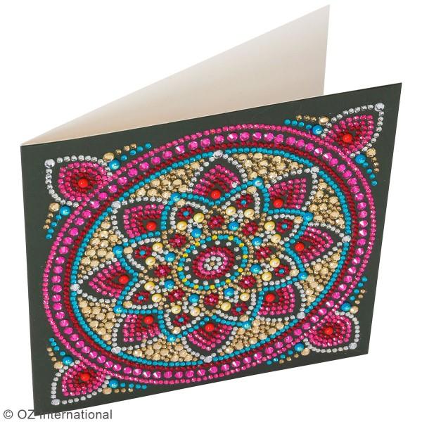 Kit Crystal Art - Carte broderie diamant - Mandala - 18 x 18 cm - Photo n°2