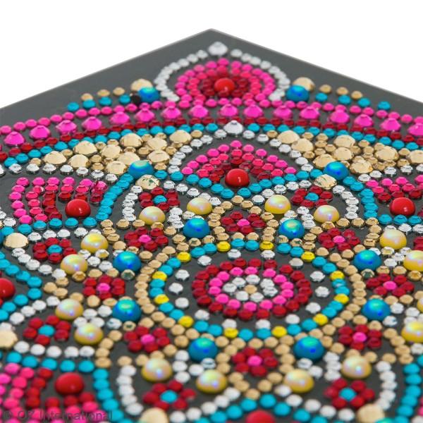 Kit Crystal Art - Carte broderie diamant - Mandala - 18 x 18 cm - Photo n°3