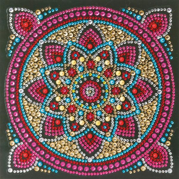 Kit Crystal Art - Carte broderie diamant - Mandala - 18 x 18 cm - Photo n°1
