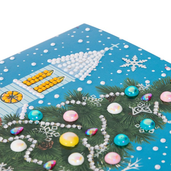 Kit Crystal Art - Carte broderie diamant - Sapin de Noël - 18 x 18 cm - Photo n°3