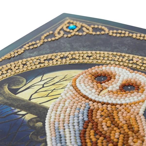 Kit Crystal Art - Carte broderie diamant - Chouette magique - 21 x 29 cm - Photo n°3