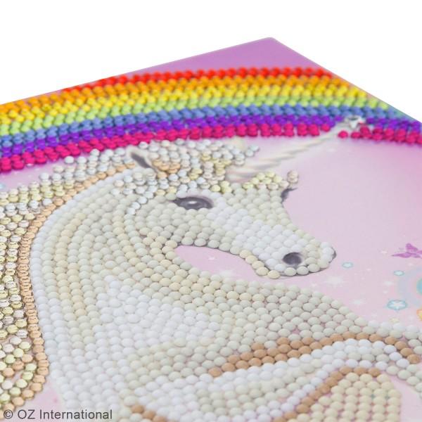 Kit Crystal Art - Carte broderie diamant - Licorne - 21 x 29 cm - Photo n°3