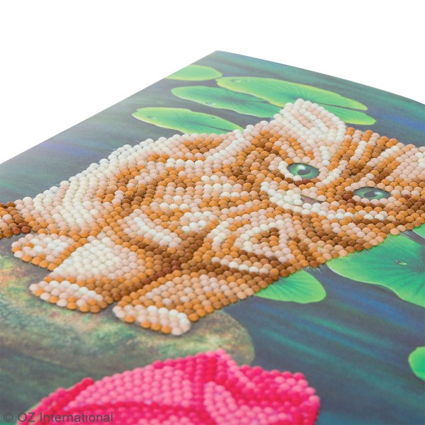 Kit Crystal Art - Carte broderie diamant - Chaton - 21 x 29 cm - Photo n°3