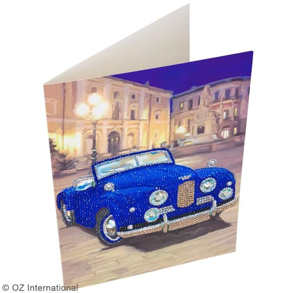 Kit Crystal Art - Carte broderie diamant - Voiture de collection - 21 x 29 cm - Photo n°2