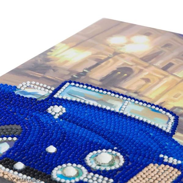 Kit Crystal Art - Carte broderie diamant - Voiture de collection - 21 x 29 cm - Photo n°3