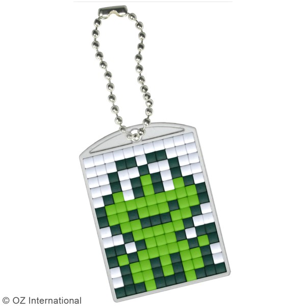 Kit créatif Pixel - porte-clés 4 x 3 cm - Grenouille - Photo n°2