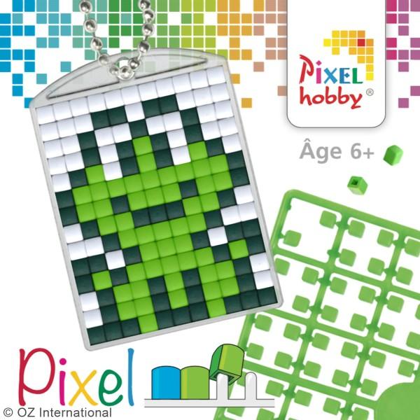 Kit créatif Pixel - porte-clés 4 x 3 cm - Grenouille - Photo n°3