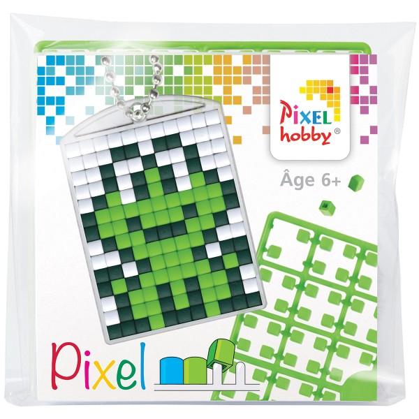 Kit créatif Pixel - porte-clés 4 x 3 cm - Grenouille - Photo n°1