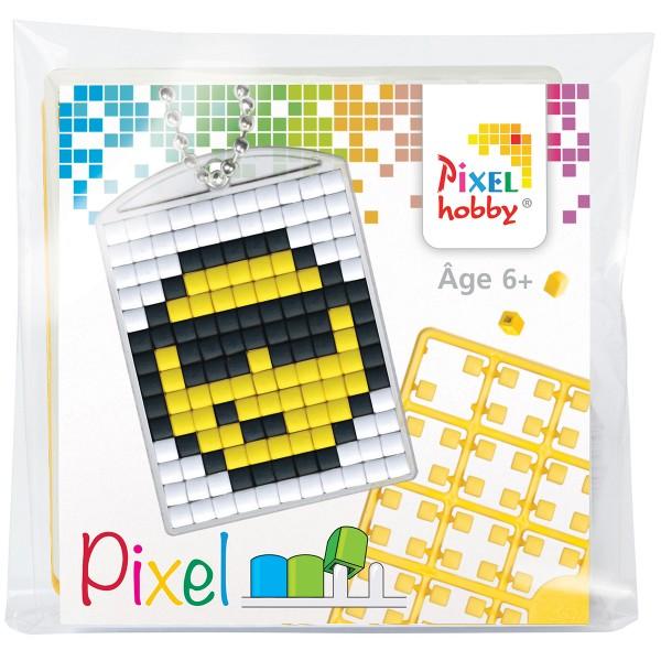 Kit créatif Pixel - porte-clés 4 x 3 cm - Smiley - Photo n°1