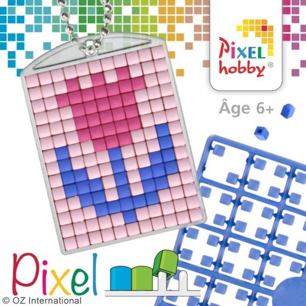 Kit créatif Pixel - porte-clés 4 x 3 cm - Fleur - Photo n°3