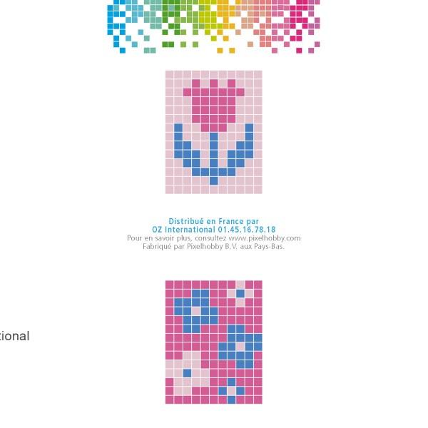 Kit créatif Pixel - porte-clés 4 x 3 cm - Fleur - Photo n°4