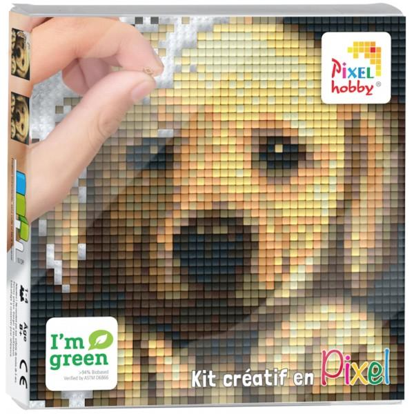Kit Créatif Pixel - Tableau 12 x 12 cm - Chien - Photo n°1