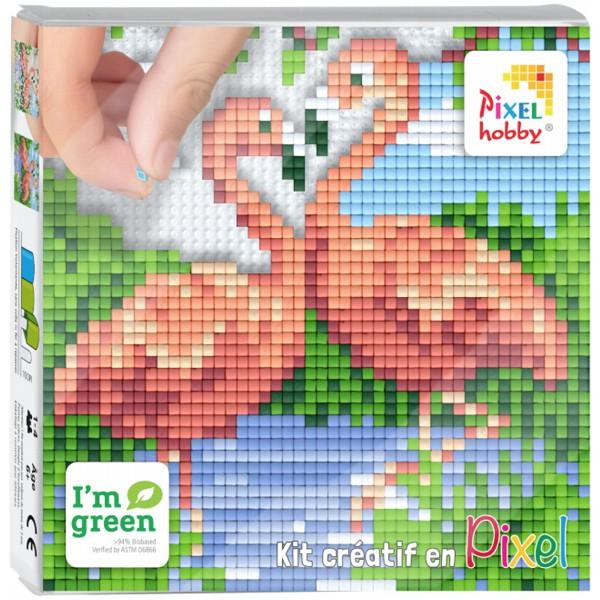 Kit Creatif Pixel Tableau 12 X 12 Cm Flamant Rose Tableau Paillette Et Mosaic Creavea