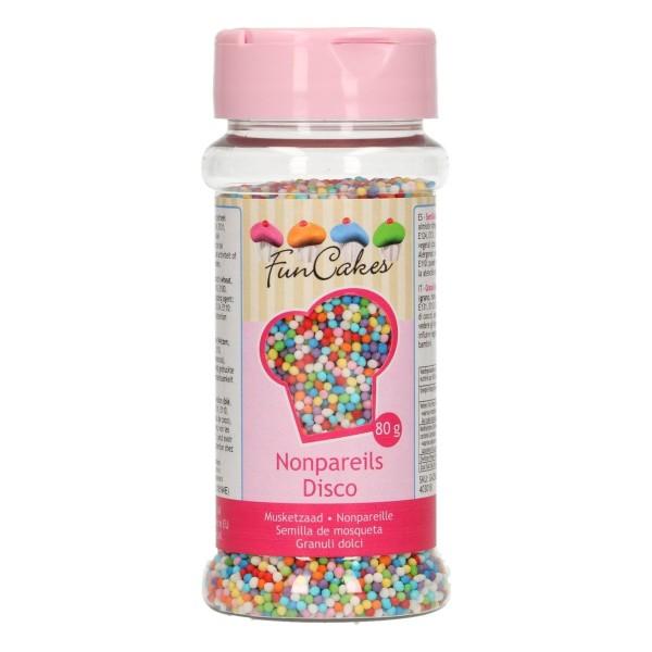 Mini billes de sucre multicolores - Disco mix - Photo n°1