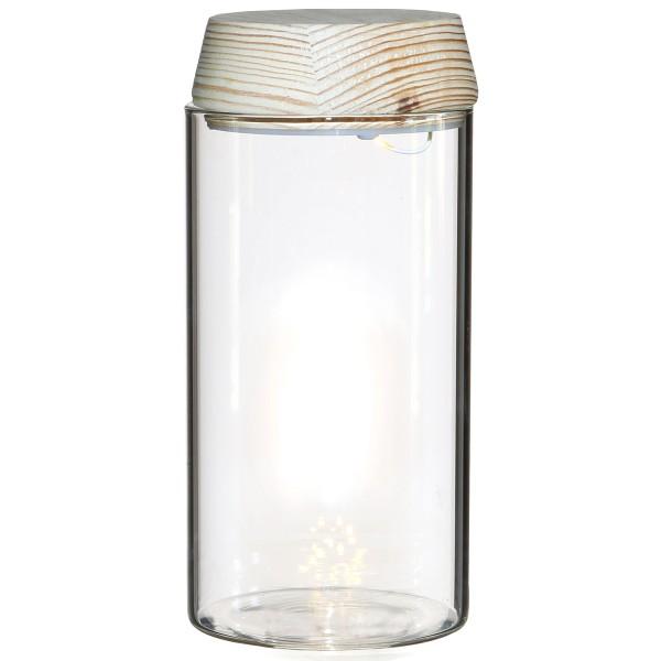 Vase Cylindrique - Terrarium avec LED - 8 x 18 cm - Photo n°1