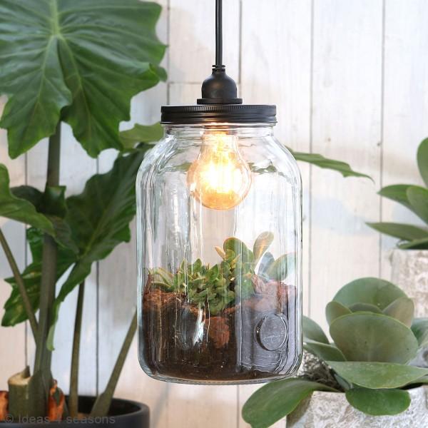 Vase Terrarium avec ampoule - 15,5 x 26 cm - Photo n°2