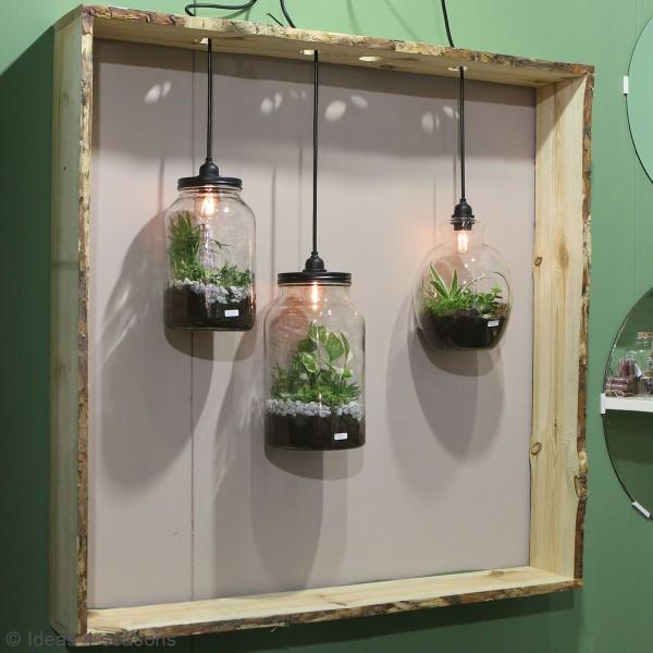 Vase Terrarium avec ampoule - 17,5 x 30 cm - Photo n°3