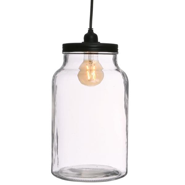 Vase Terrarium avec ampoule - 17,5 x 30 cm - Photo n°1