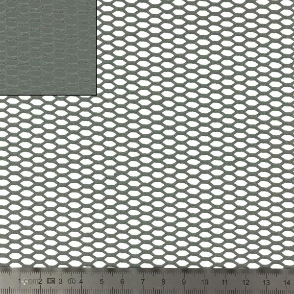 Tissu filet Mesh en coton bio - Gris - Par 10 cm (sur mesure) - Photo n°2