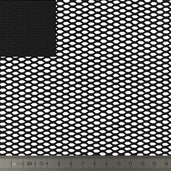 Tissu filet Mesh en coton bio - Noir - Par 10 cm (sur mesure) - Photo n°2