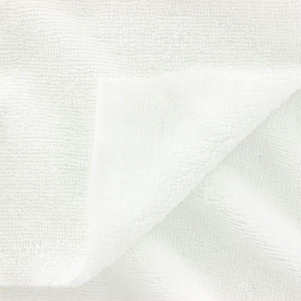 Tissu éponge microfibre de bambou - Blanc - Par 10 cm - Photo n°3