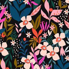 Tissu Coton Jersey Dashwood - Secret Garden - Par 10 cm