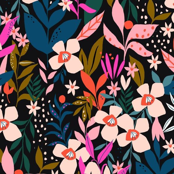 Tissu Coton Jersey Dashwood - Secret Garden - Par 10 cm - Photo n°1