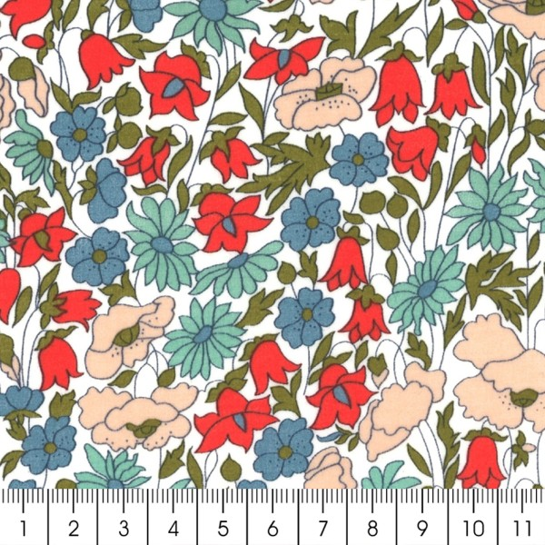 Tissu coton léger - Liberty Poppy and Daisy - Par 10 cm - Photo n°2
