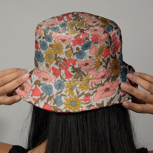Tissu coton léger - Liberty Poppy and Daisy Édition 40 ans - Par 10 cm - Photo n°2
