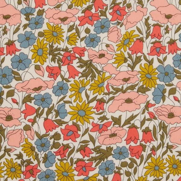 Tissu coton léger - Liberty Poppy and Daisy Édition 40 ans - Par 10 cm - Photo n°1