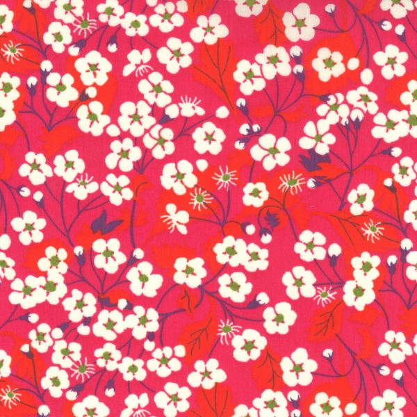 Tissu coton léger - Liberty Mitsi Rose - Par 10 cm - Photo n°1