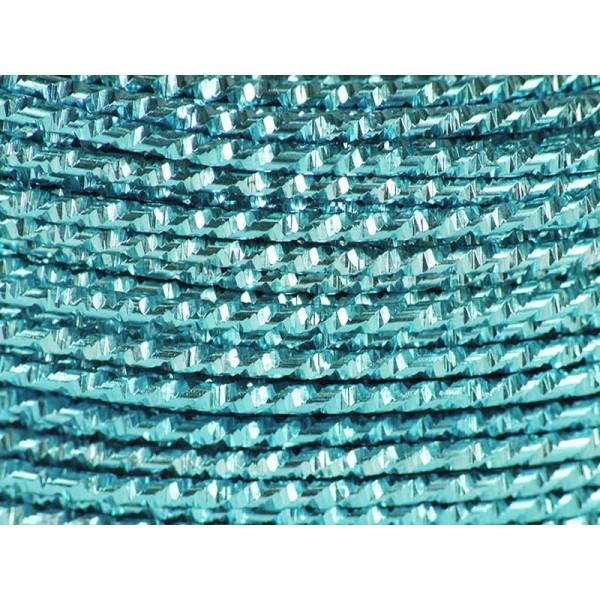 60 Mètres fil aluminium hammer bleu glacé 2mm - Photo n°1