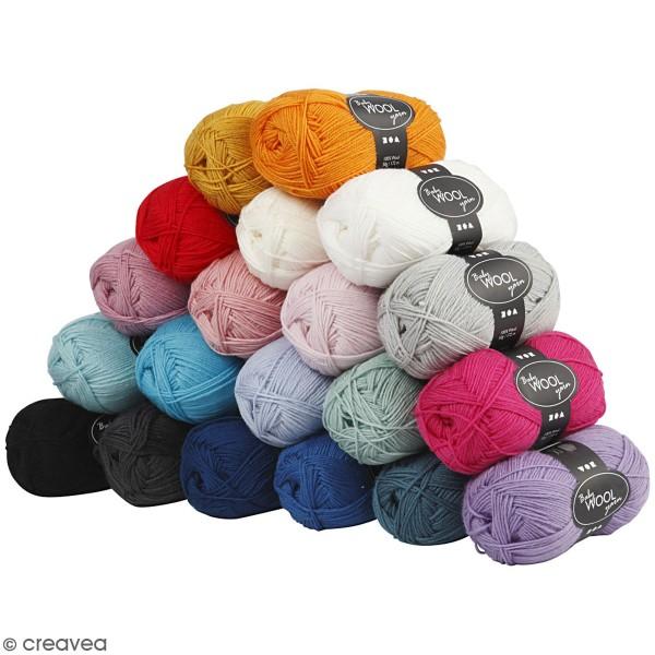 Assortiment de laine pour bébé 50 gr - Couleurs assorties - 20 pcs - Photo n°1