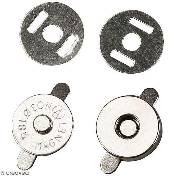 Fermetures magnétiques à griffes - 18 mm - 4 pcs - Photo n°1