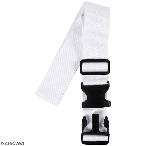 Bandoulière de bagage - blanc - 92/164 cm - 1 pce - Photo n°4
