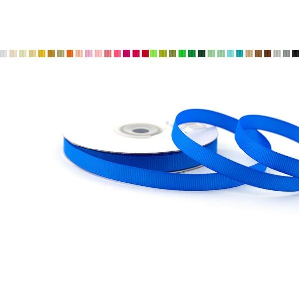 Ruban gros grain 10 mm de large bobine de 25 metres de long bleu roi - Photo n°1