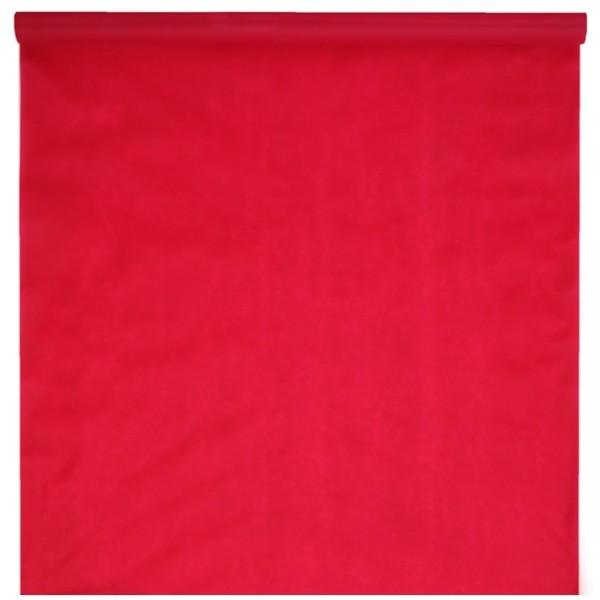 Tapis mariage rouge intissé fin 1m x 15m - Photo n°1
