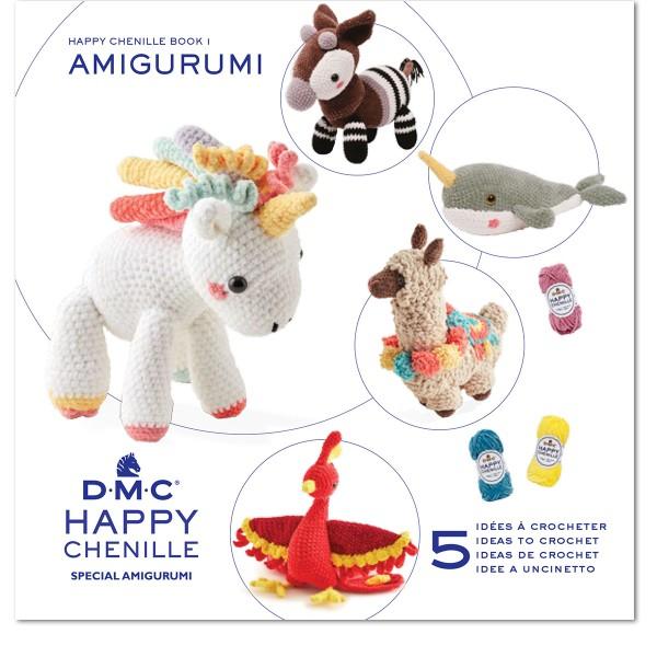 Livre crochet Amigurumi - Happy Chenille Book 1 - Animaux fantastiques - 5 modèles - Photo n°1