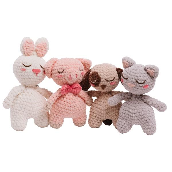 Livre crochet Amigurumi - Happy Chenille Book 3 - Petits amis - 5 modèles - Photo n°4