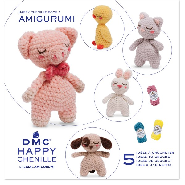 Livre crochet Amigurumi - Happy Chenille Book 3 - Petits amis - 5 modèles - Photo n°1