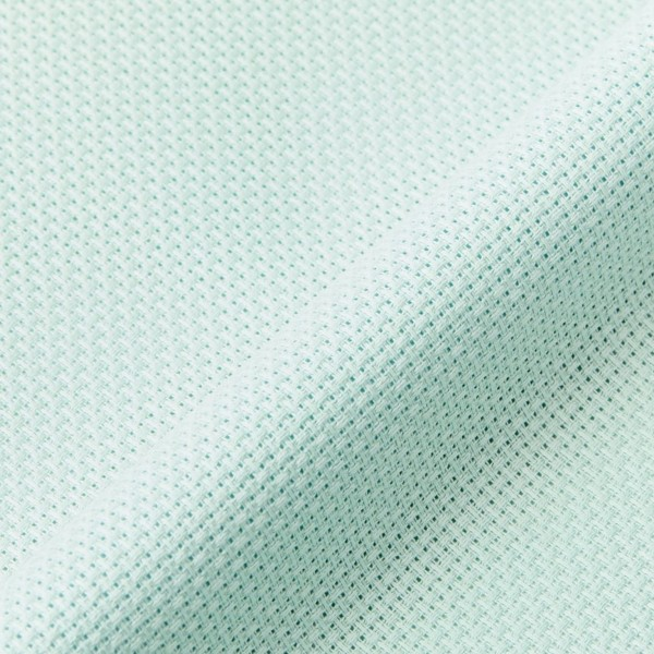 Toile à broder Aida prédécoupée - Vert pastel - 38,1 x 45,7 cm - 5,5 pts/cm - Photo n°2