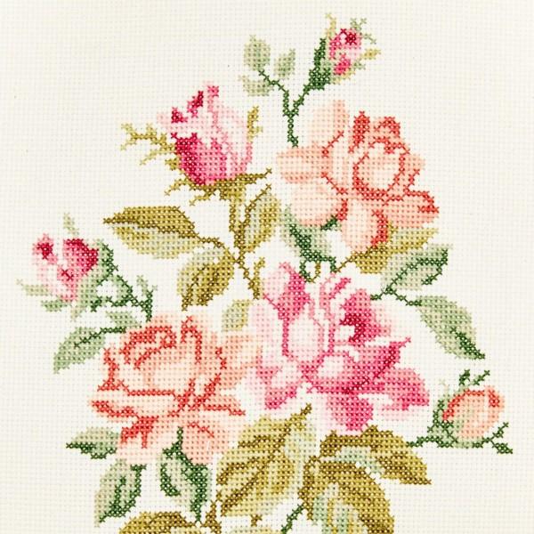 Toile à broder Aida prédécoupée - Rose pastel - 38,1 x 45,7 cm - 5,5 pts/cm - Photo n°4