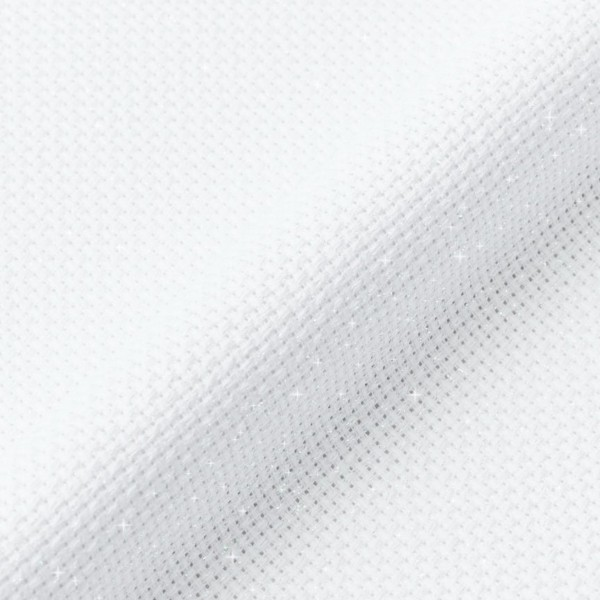 Toile à broder Aida Irisée - Blanc - 38,1 x 45,7 cm - 5,5 pts/cm - Photo n°2