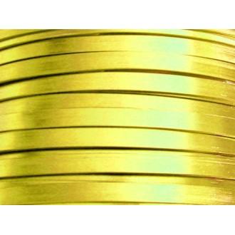 5 Mètres fil aluminium plat jaune soleil 5mm