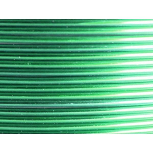 5 Mètres fil aluminium vert 2mm - Photo n°1