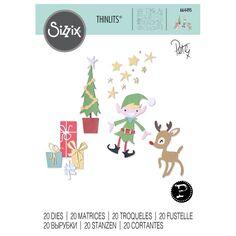 Matrice Sizzix Thinlits - L'atelier du Père Noël - 20 pcs