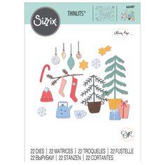 Matrice Sizzix Thinlits - Ambiance de Noël - 22 pcs