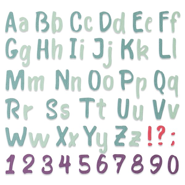 Matrice Sizzix Thinlits - Alphabet - Photo n°2