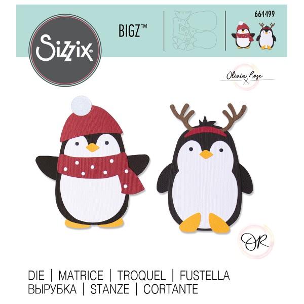 Matrice Sizzix Bigz - Pingouin - Photo n°1